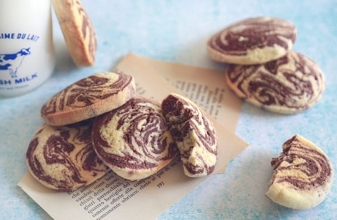 Biscotti variegati, perfetti per la colazione