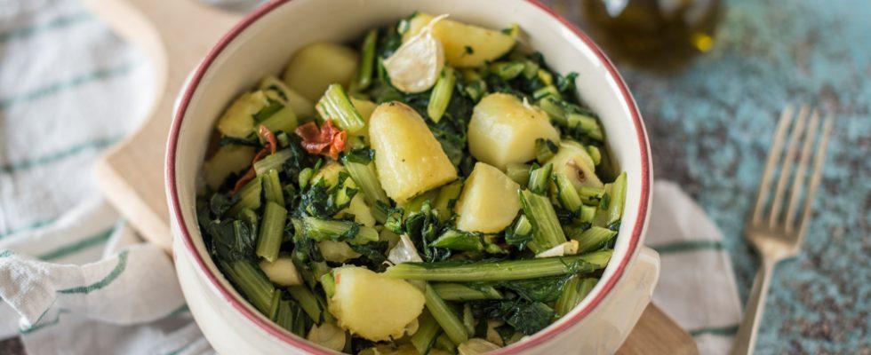 Cicoria e patate: contorno ricco