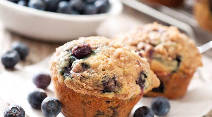 La ricetta dei muffin ai mirtilli di Marco Bianchi