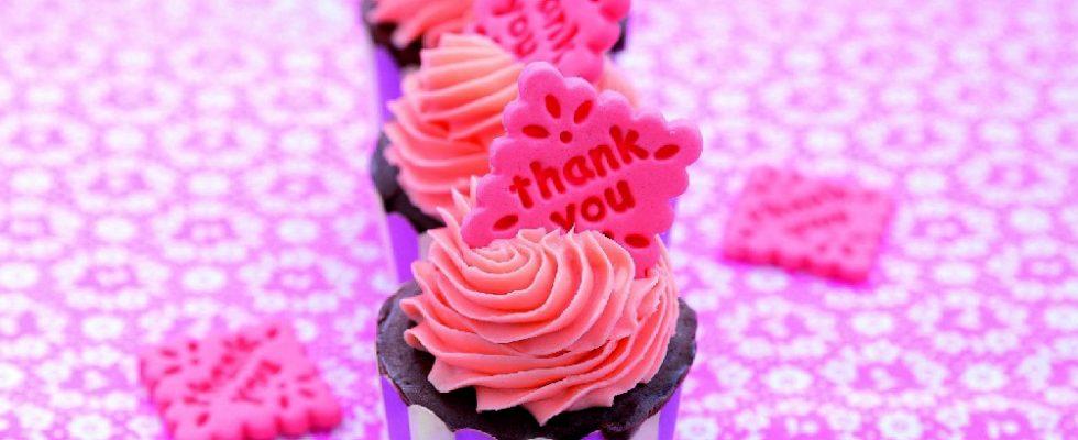 Cupcake con cacao alla rosa, un dolce bello e delicato
