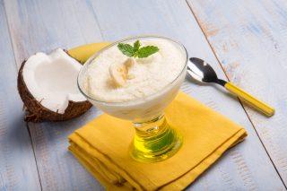 Gelato tropicale cocco e banana: perfetto per l'estate