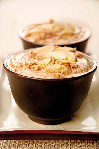 Crema al caffè con mandorle e amaretti al bimby