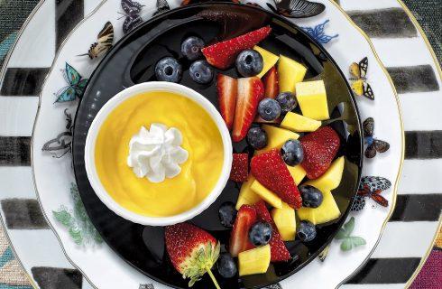 Crema al limoncello con frutta fresca al bimby
