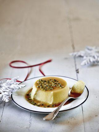 Crème caramel al frutto della passione al bimby