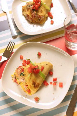 Crêpes al salmone con formaggio fresco e pomodoro al bimby