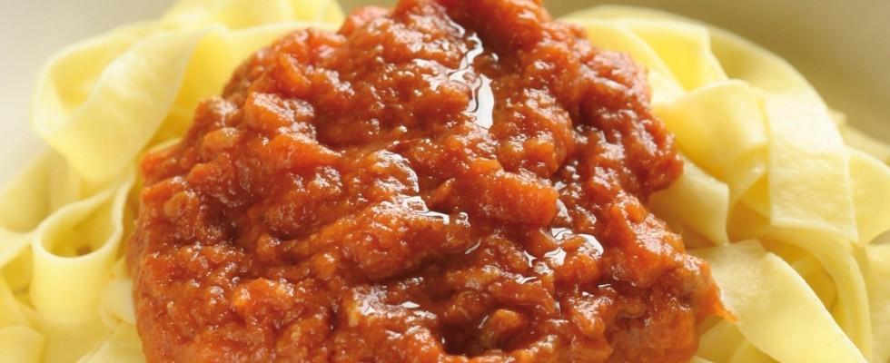 Fettuccine con ragù di maiale al bimby