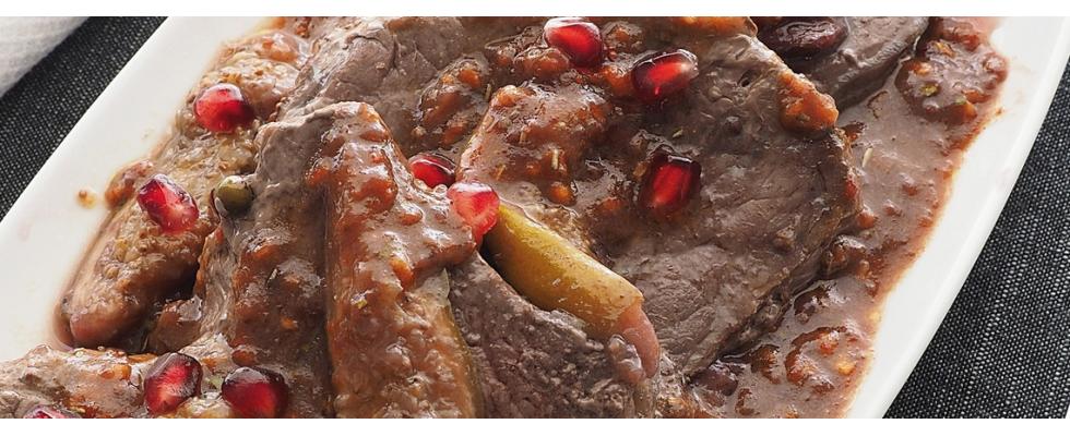Filetto di manzo con salsa di fichi al bimby