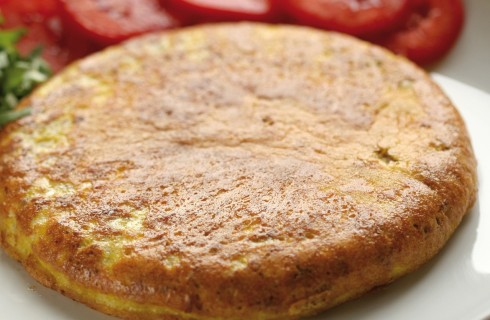 Frittata alla mozzarella con pomodori e rucola al bimby