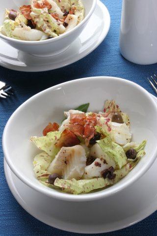 Insalata di baccalà con olive e crudo al bimby