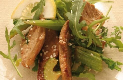 Insalata di carne con rucola, sedano e citronette al bimby