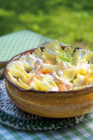 Insalata di pasta fredda al salmone e yogurt al bimby