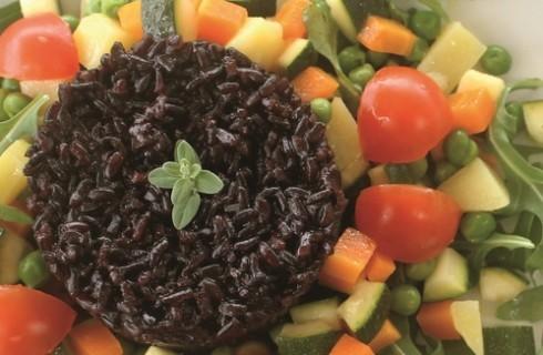 Insalata di riso venere e verdure al bimby