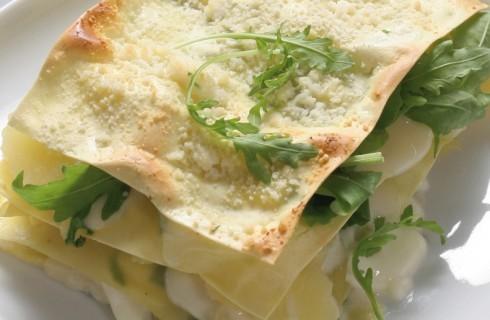 Lasagne fredde con crescenza, patate e rucola al bimby
