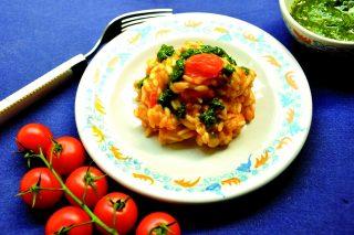 Risotto al tonno con pomodori e basilico, con il bimby