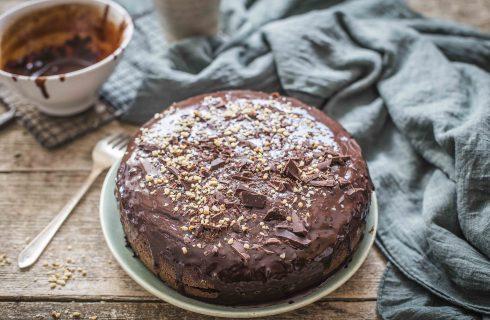Torta affogata al cioccolato: golosa