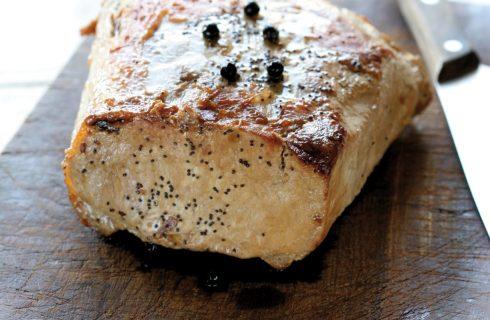 Arrosto di maiale con semi di papavero al bimby