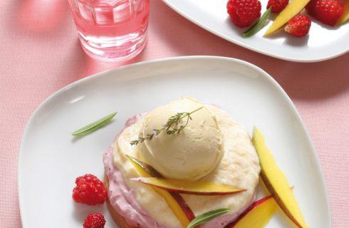 Biscotto ai tre gelati con frutta fresca al bimby