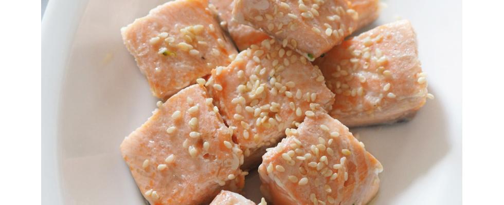 Bocconcini di salmone con sesamo al bimby