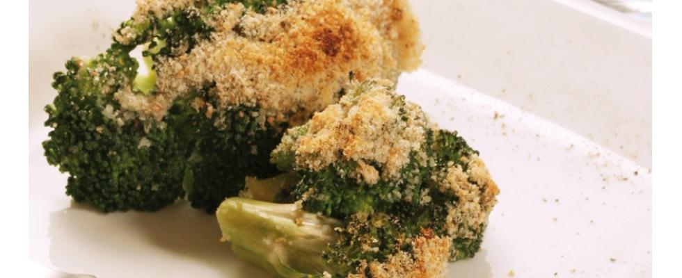 Broccoli gratinati con pane e pepe nero al bimby