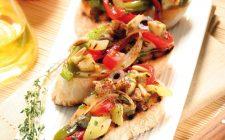 Bruschette con caponata di verdure al bimby
