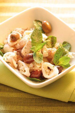 Calamari con olive e menta al bimby