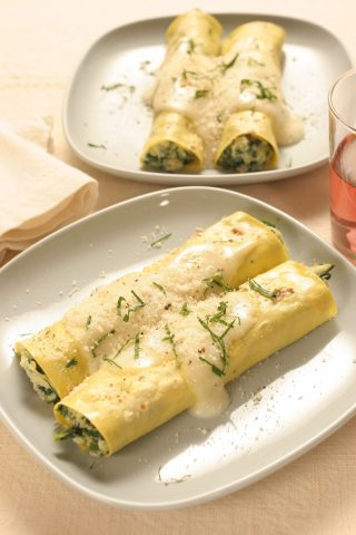 Cannelloni con ricotta e spinaci al bimby