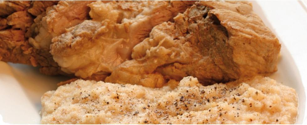 Carne bollita con salsa pearà al bimby