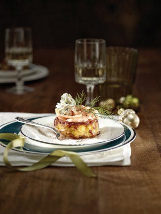 Cestini di patate con salmone e formaggio cremoso al bimby