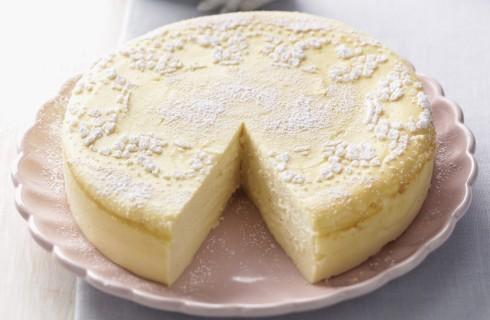 Cheesecake alla vaniglia senza base di biscotto al bimby