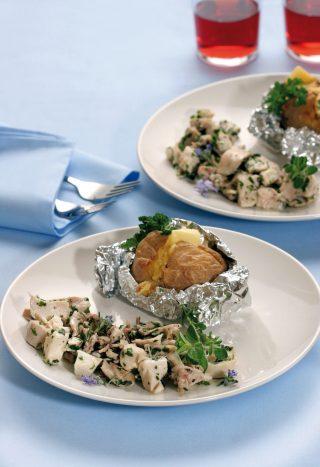 Coniglio agli aromi con patate al cartoccio al bimby