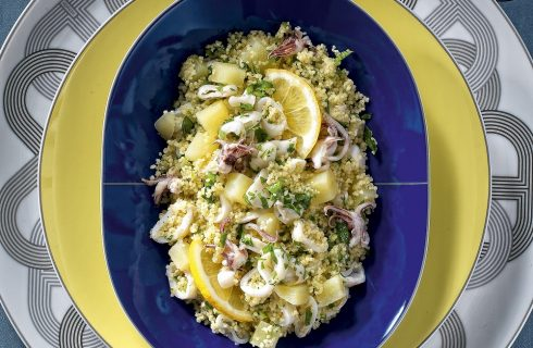 Couscous con calamari e patate al bimby