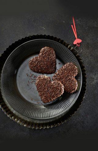 Cuori di biscotto con cioccolato al bimby