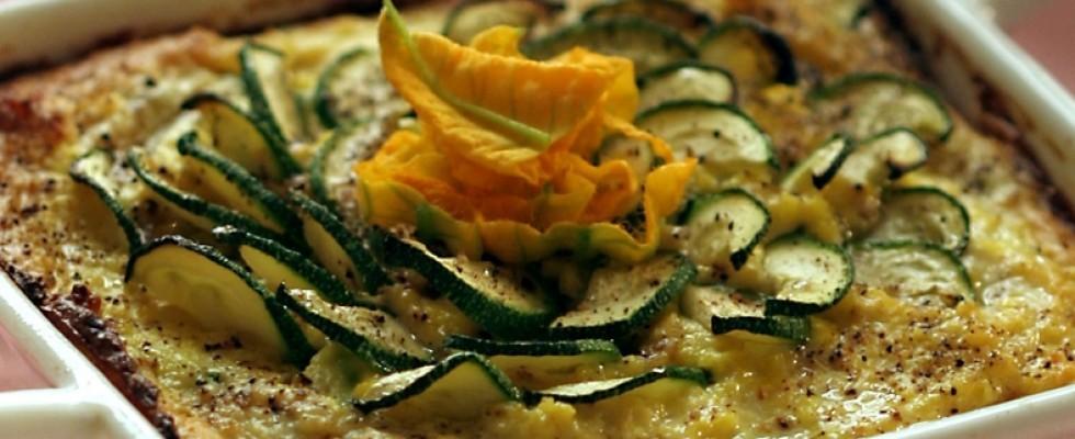 Frittata di zucchine e cipolline al bimby
