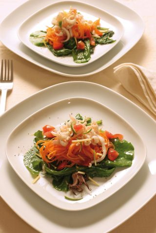Insalata fredda di calamari e verdure al bimby