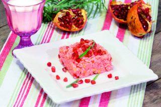 Risotto al melograno, primo piatto vegano