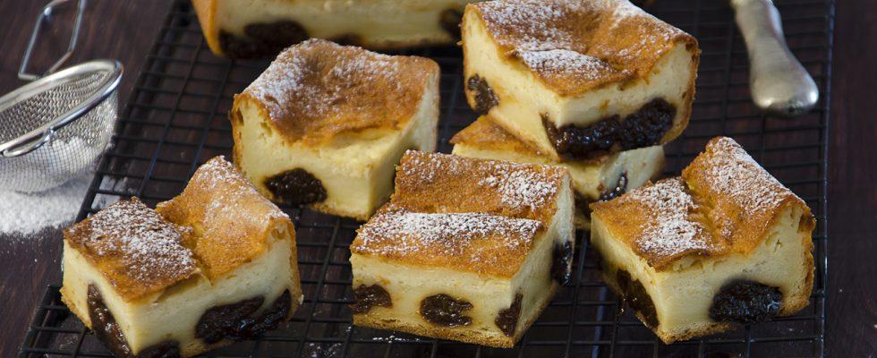 Flan alle prugne: far breton