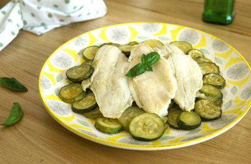 Platessa con zucchine: secondo con contorno