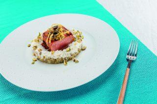 Tonno scottato al barbecue: antipasto di pesce