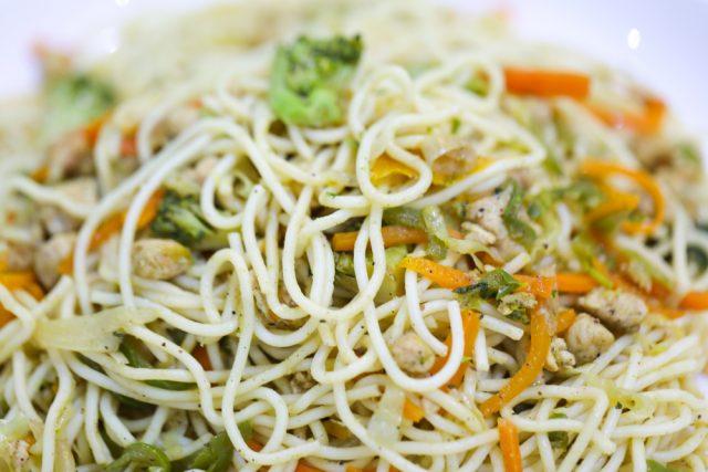 verdure e noodles