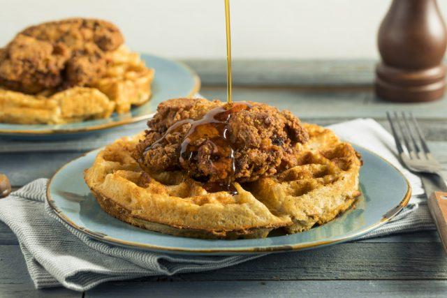 pollo fritto e waffle