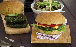 Burger di spinaci e funghi: secondo piatto vegano