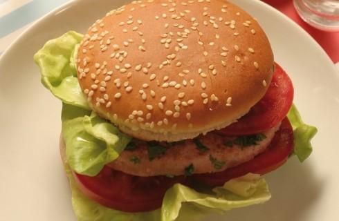 Fishburger di salmone con panini ai semi al bimby