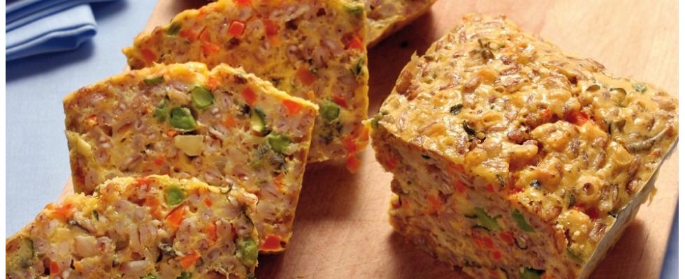 Torta salata di farro con verdure al bimby