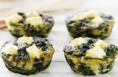 Frittate con spinaci e feta al bimby