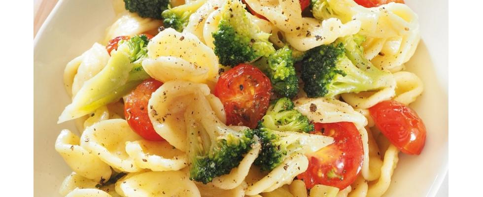 Orecchiette con broccoli e pomodorini al bimby