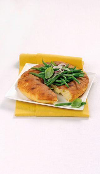 Pane morbido di ricotta con fagiolini e cipolla al bimby