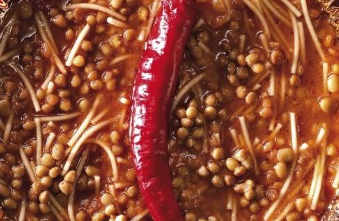 Pasta e lenticchie con peperoncino al bimby