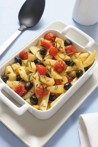 Patate con pomodorini e olive al bimby