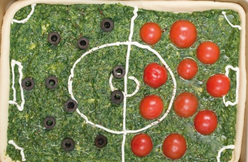 Pizza campo di calcio al bimby