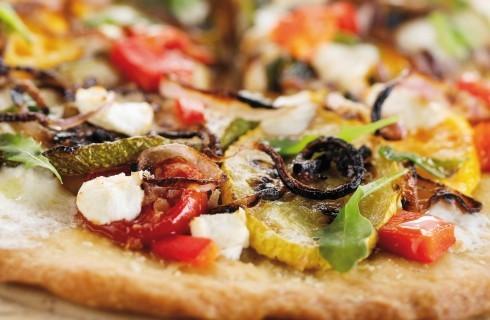 Pizza con peperoni, pomodoro fresco e tofu al bimby